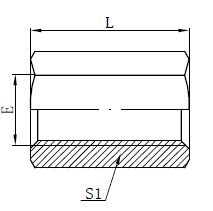 BSP Female Adapter Fittings Drawing