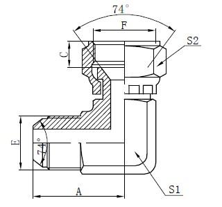 JIC Flat Face Connectors Tekening