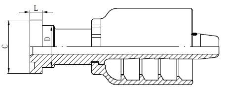SS-buisconnectortekening