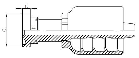 RVS hydraulische koppelingen Tekening
